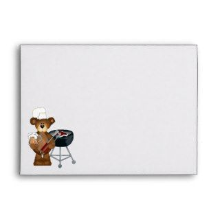Cartoon Hillbilly Bear BBQ envelope