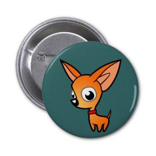Cartoon Chihuahua (red) Buttons