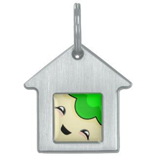 Green Kawaii Tickle Monster Pet Tags