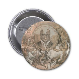 Vampire Bat Portrait Pin