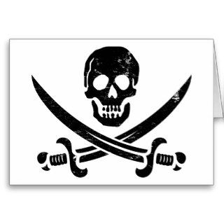 John Rackham (Calico Jack) Pirate Flag Jolly Roger Cards