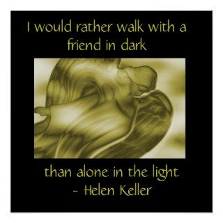 Helen Keller Quote   Angel Poster