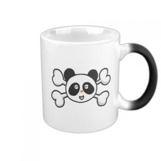 panda bear Skull and Crossbones Coffee Mug