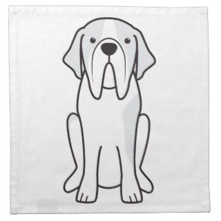 Saint Bernard Dog Cartoon Napkins