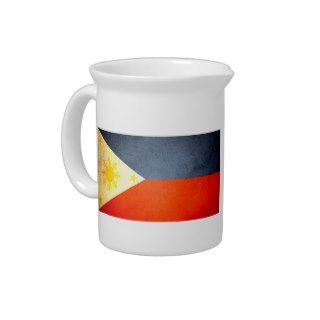 Sun kissed Philippines Flag Drink Pitcher