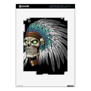 Native American Indian Tribal Gothic Skull Decal For iPad 3
