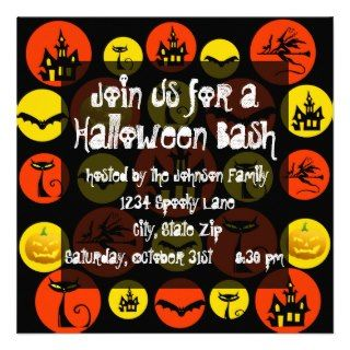 Halloween Party Invitation Haunted House Black Cat