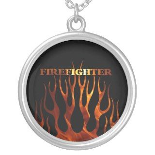 Tribal FF Flames Personalized Necklace