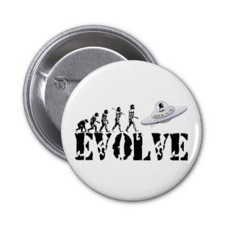 Alien UFO ET Area 51 Evolution Pinback Buttons