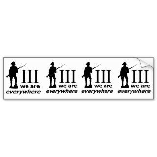 Percent, We Are Everywhere Bumper Sticker