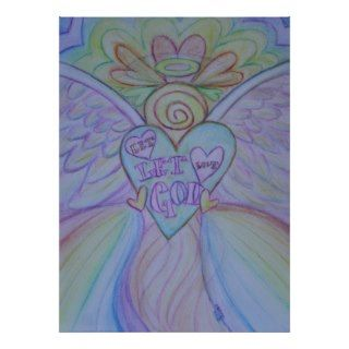 Let Love, Let God Guardian Angel Art Print Poster