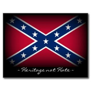 Heritage Not Hate   Redneck Confederate Flag Postcard