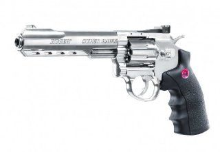 Set (P18): RUGER Super Hawk 6 silber Kal. 6 mm Softair   Waffe (2