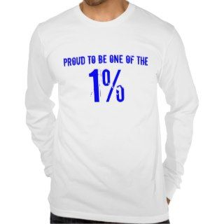 proud to be one of the 1 percent tshirts