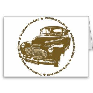 1941 Chevy Coupe Traditional Hot Rod Greeting Cards