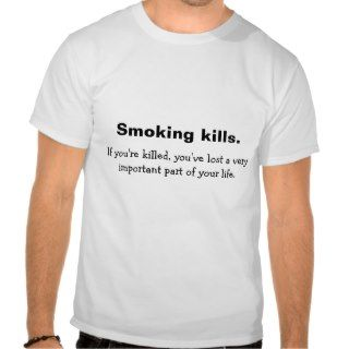 Smoking kills shirts
