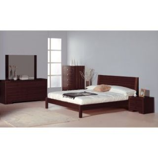 Alpha Platform Bed   Wenge   Beds