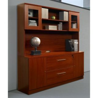 Jesper Credenza and Hutch   Cherry   Computer Desks