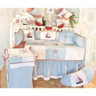Danielle Sail Away Fitted Crib Sheet   Crib Bedding