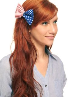 It's in the Flag Hair Clip  Mod Retro Vintage Hair Accessories