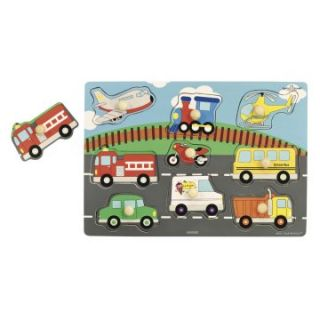 Ryans Room Transportation and Farm Animal Classic Puzzle Set 3 Puzzles