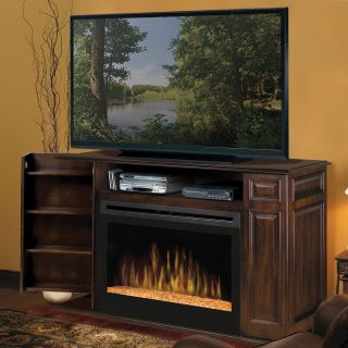 Dimplex Atwood Walnut Entertainment Center Electric Fireplace