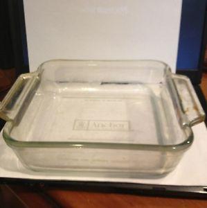 Vintage 1980s Anchor Hocking USA Square Glass Cake Casserole Pan 8x8 2 Quart