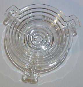 Vintage Anchor Hocking Manhattan Clear Depression Glass Ashtray Excellent