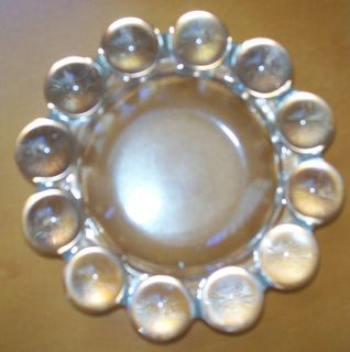 """Vintage Clear Boopie Glass Ashtray by Anchor Hocking 5"""" Diameter"""