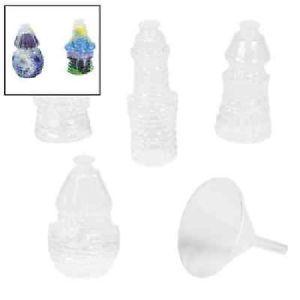 Plastic Castle Sand Art Bottles Lot of 12 PC Arts and Crafts 12 974