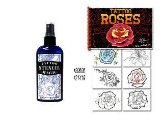 Tattoo Flash Art Book Stencil Magic Transfer Supplies