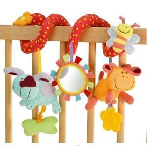 Multifunctional Baby Kids Bed Crib Ring Car Pram Hanging Bell Plush Toy Gift