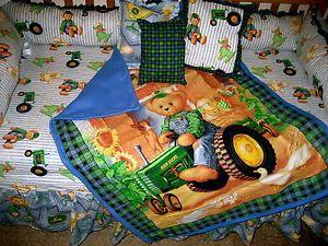 Teddy Bear Tractor John Deere Baby Bedding
