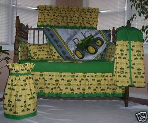 10 PC John Deere Baby Quilt Set Crib Nursery Bedding