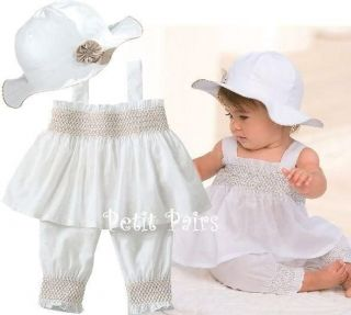 3pcs Baby Girl Kid Ruffle Top Pants Hat Set Outfit Clothes Costume 6 12Month A06