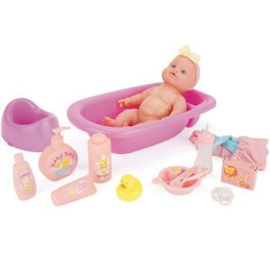 Snuggles 30cm Bath Feeding Time Baby Doll Toy Fun for Girls Toys Set Gift New