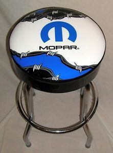 Mopar Auto Barb Wire Barbed Wire Barbwire Racing Logo Bar Stool Stools
