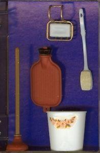 Dollhouse Miniature Bathroom Accessories Set Miniatures for Doll House