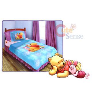 Disney Winnie Pooh Piglet Twin Bedding Comforter Set 3pc