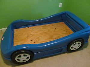 Little Tikes Blue Race Car Bed Crib Toddler Bed Size