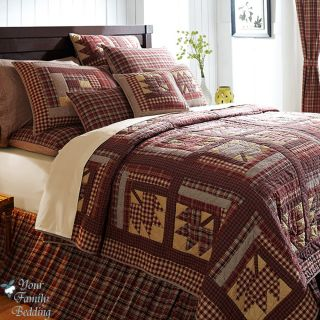 Country Maple Leaves Leaf Twin Queen Cal King Size 100 Cotton Quilt Bedding Set