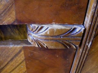 Vintage Waterfall Bureau Storage Closet Bedroom Armoire Furniture Drawers Closet
