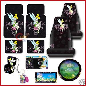 Pleasant Tinkerbell 11Pc Auto Car Seat Covers Accessories Set Pabps2019 Chair Design Images Pabps2019Com