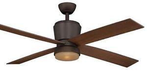Hampton Bay Trusseau 52 inch Ceiling Fan with Light Kit Remote Control Bronze