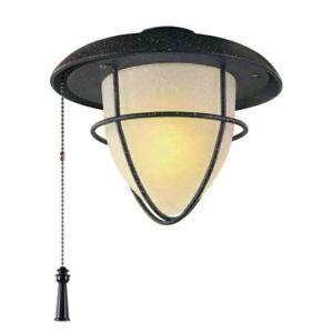 Hampton Bay Palm Beach 1 Light Gilded Iron Ceiling Fan Light Kit
