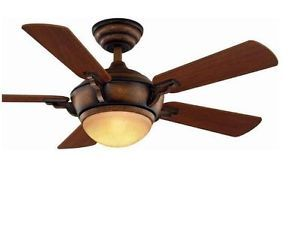 Hampton Bay 44 inch MIDILI Ceiling Fan with Remote and Light Kit Gilded Espresso