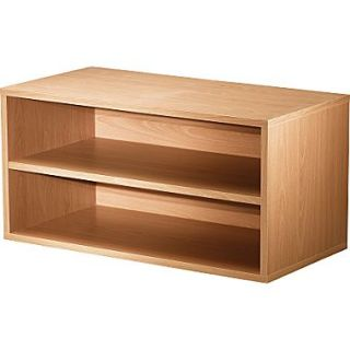 Foremost Hold'ems Modular Cube Storage System, Honey Oak 15H x 30W x 15D Shelf Double Cube