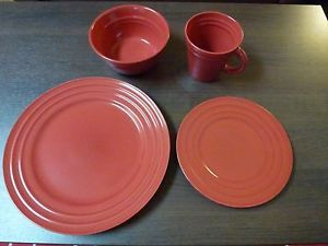 Rachael Ray 5824 4 Piece Double Ridge Dinner Plate