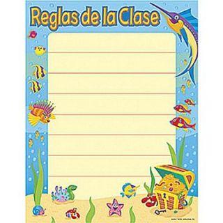 Trend Enterprises Reglas De La Clase (Class Rules) Spanish Learning Chart