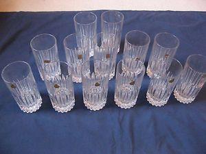 1 Glass Only Nachtmann Bleikristall Crystal Highball Glass with Vertical Cuts
